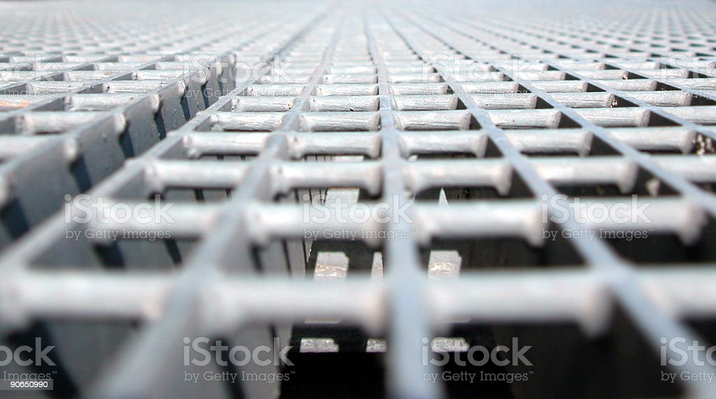 Grid - Projecting to 3 points royalty-free stock photo