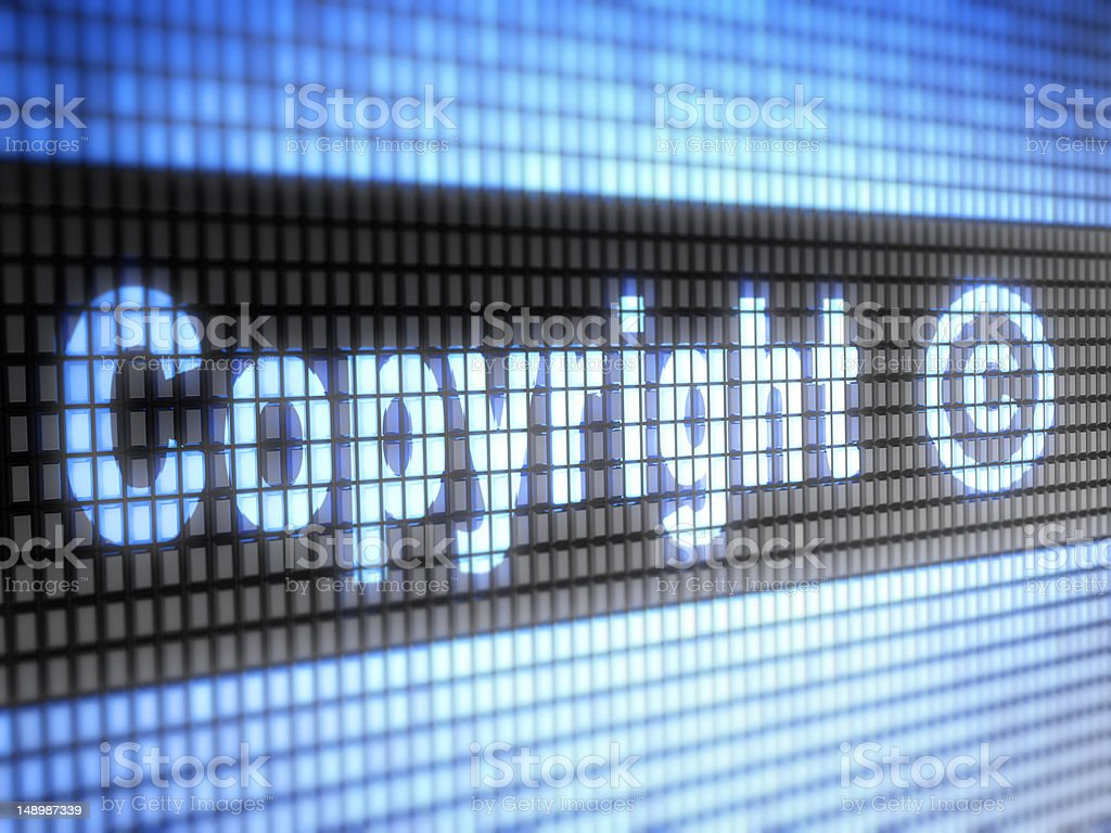 Grid screen with Copyright on it stock photo