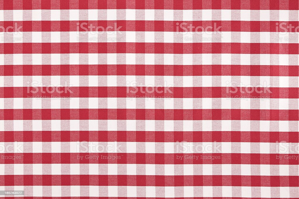 Grid Table cloth stock photo