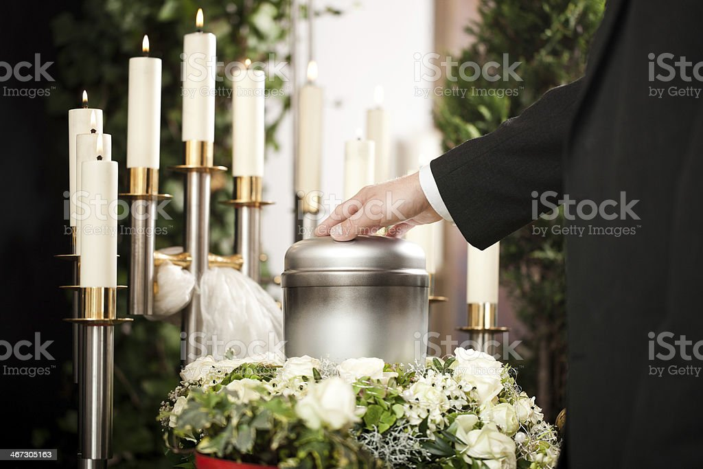 Grief - Funeral and cemetery stock photo