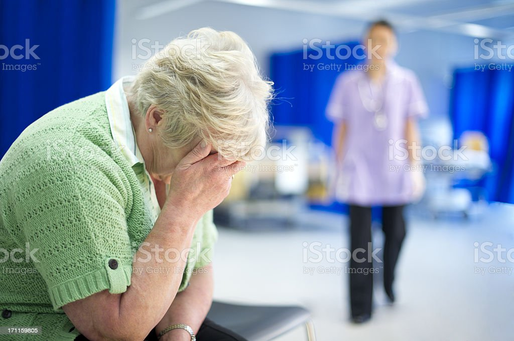 grief on the ward stock photo