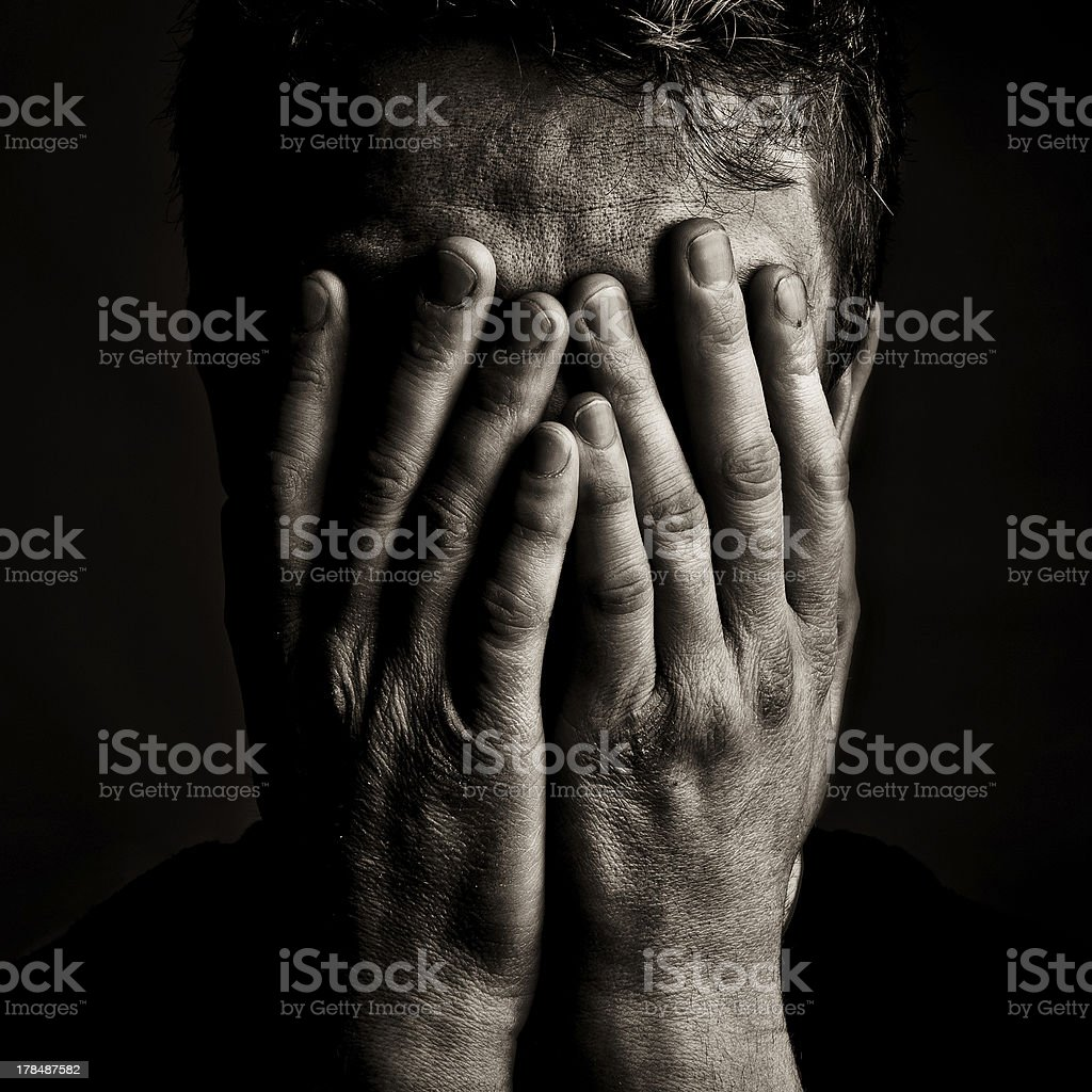 Grief stock photo