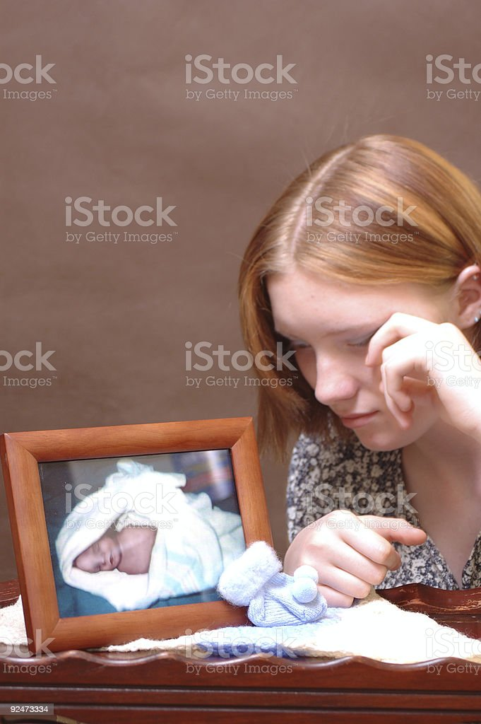 Grief (Five) stock photo