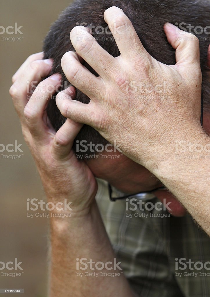 Grief Stricken Hands stock photo