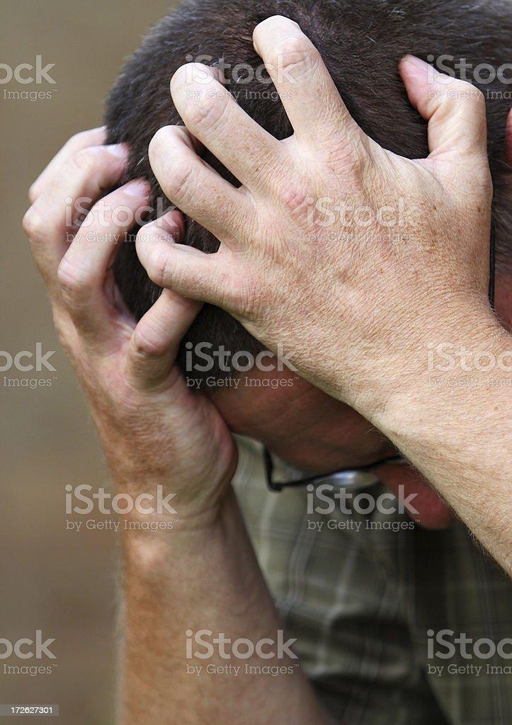 Grief Stricken Hands stock photo