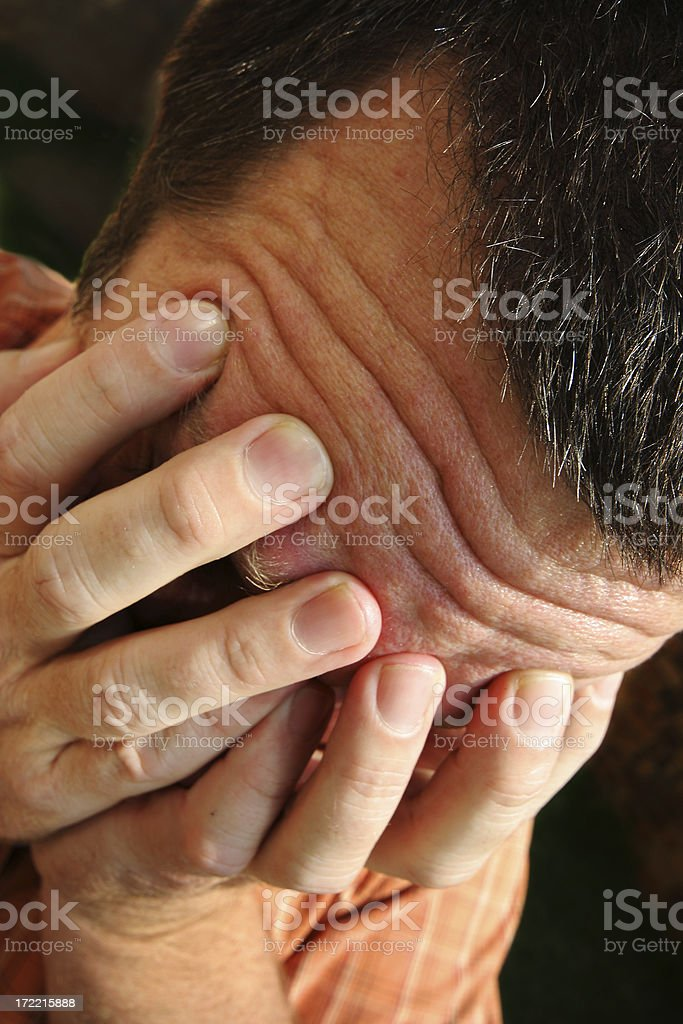 Grief Stricken Male stock photo