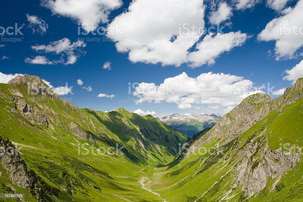 griesltal - european alps, tirol in austria stock photo