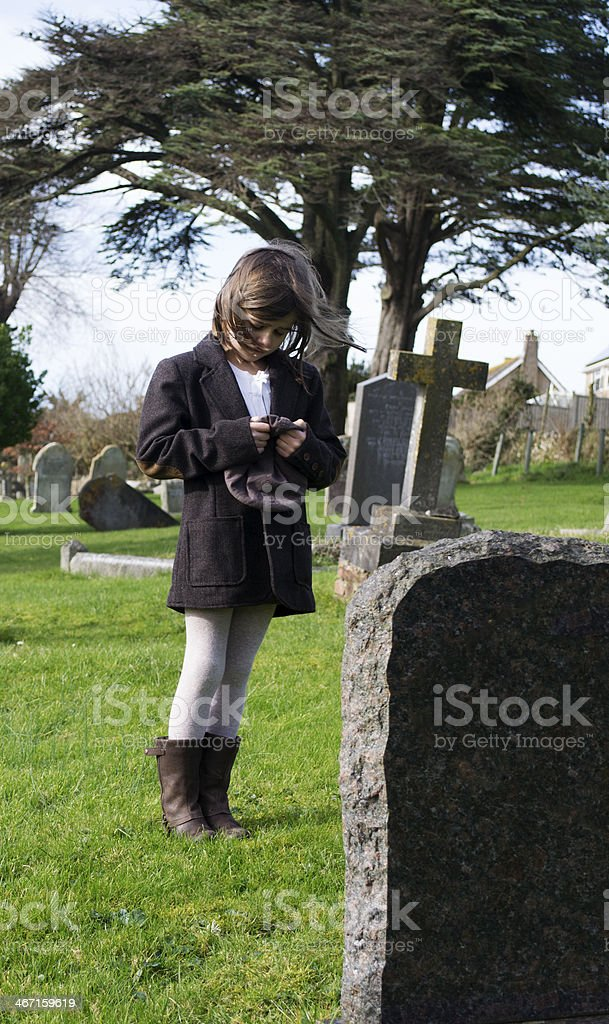 Grieving child royalty-free stock photo