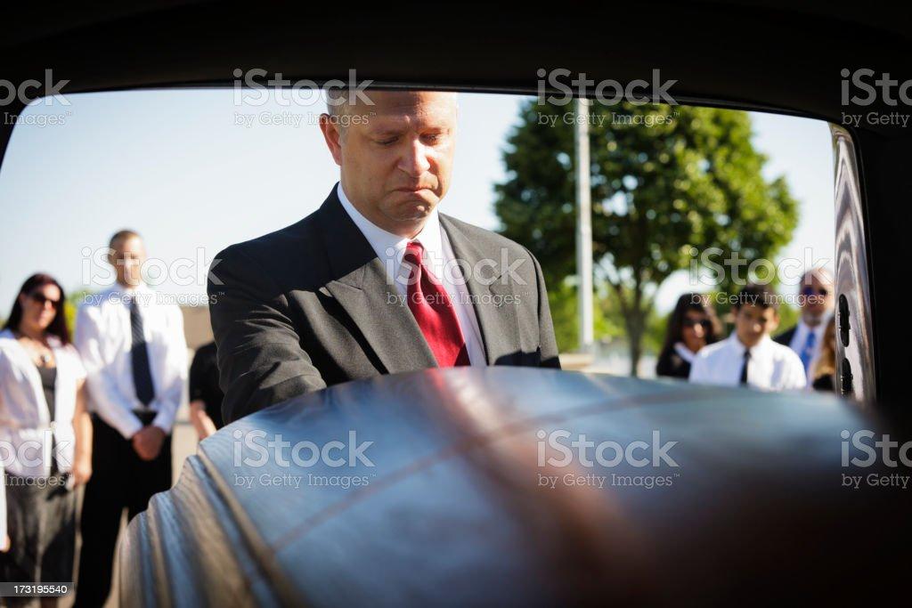 Grieving Man stock photo