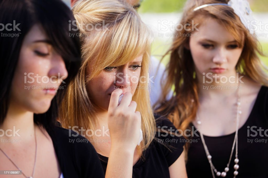 Grieving Teenage Girl royalty-free stock photo