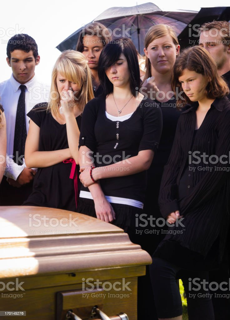 Grieving Teenagers royalty-free stock photo
