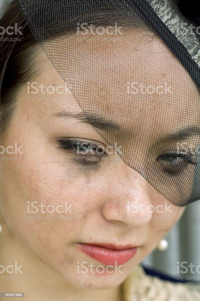 Grieving widow stock photo