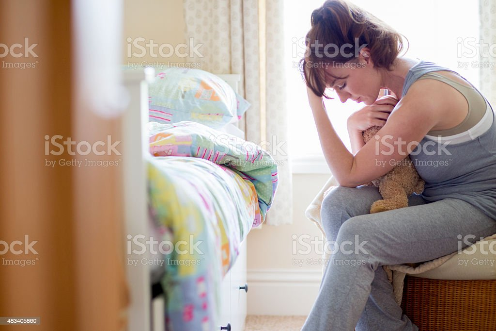 Grieving Woman stock photo