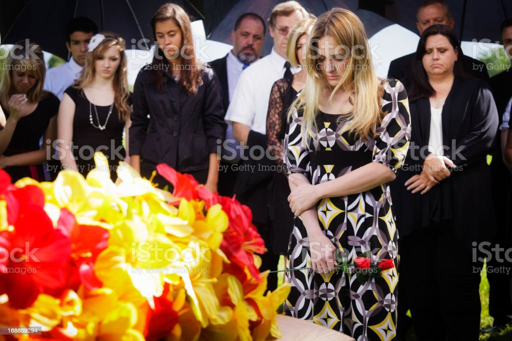 Grieving Young Woman royalty-free stock photo