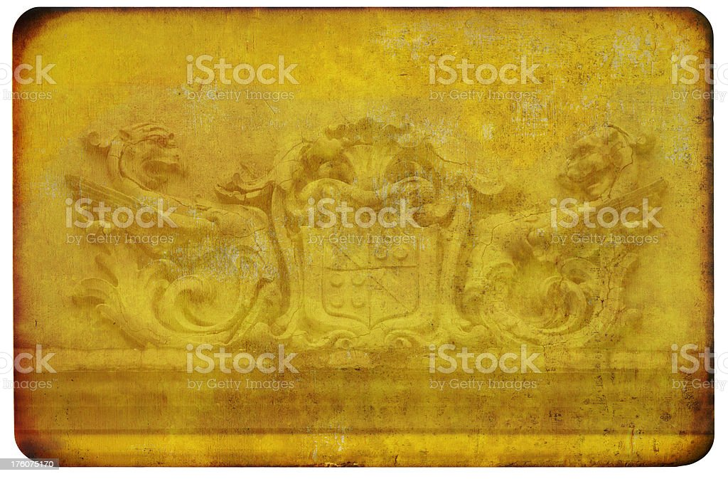 Griffin Shield Background royalty-free stock photo