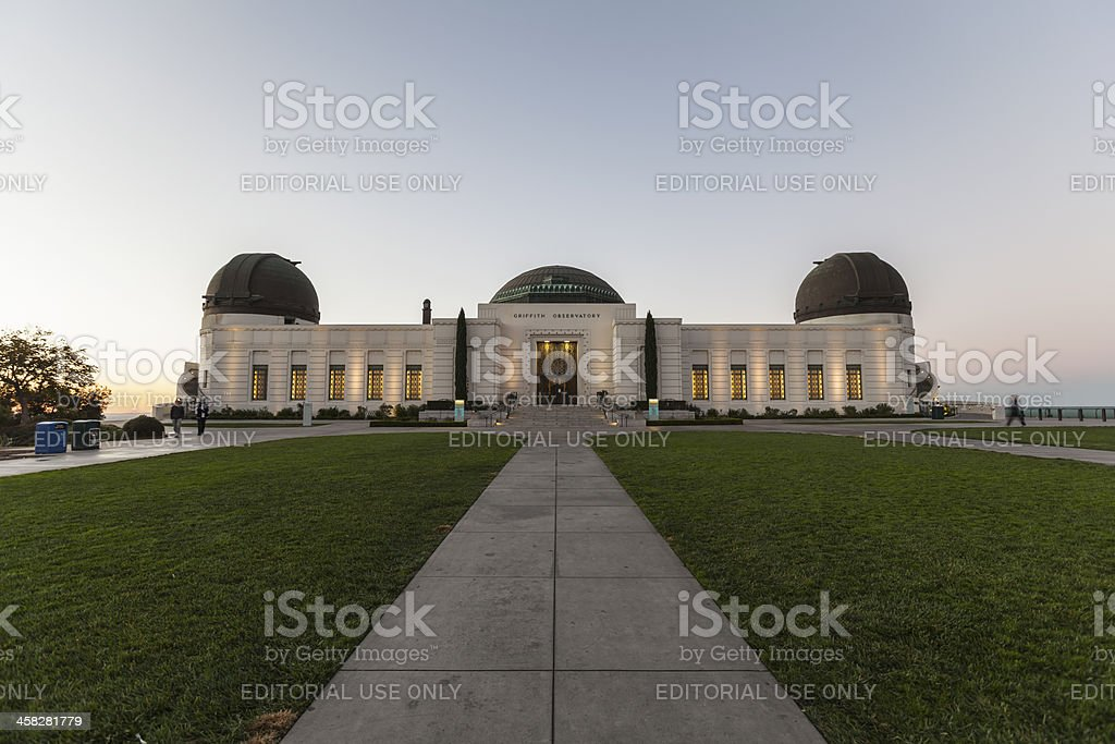 Griffith Observatory at Dawn stock photo