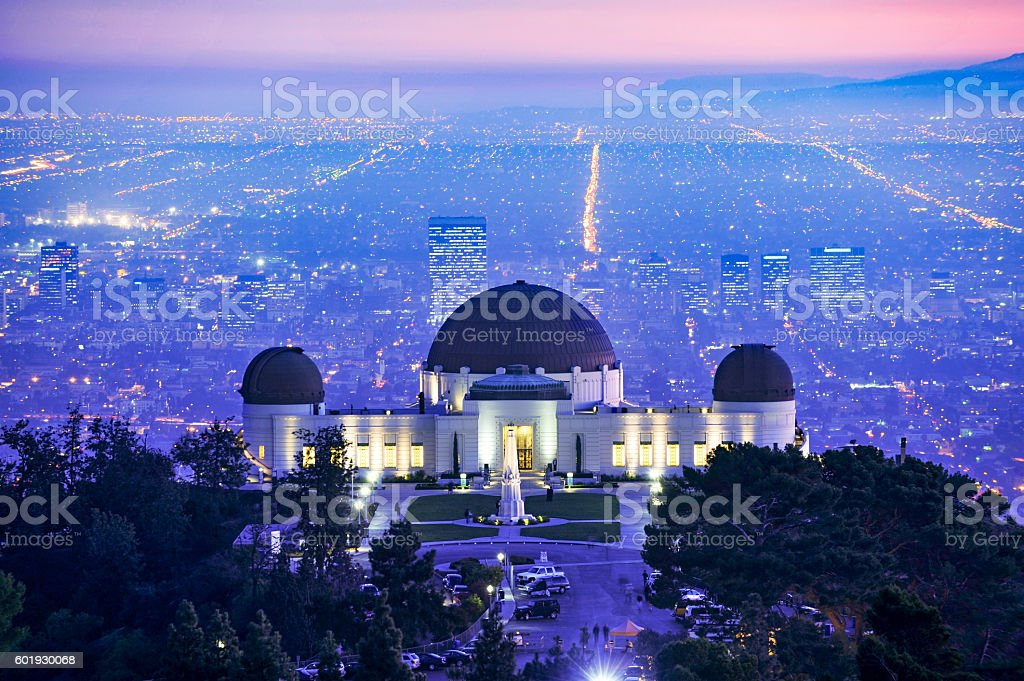 Griffith Observatory at Sunset stock photo