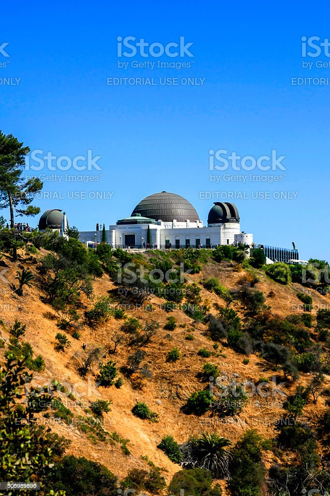 Griffith Observatory atop of Griffith Park, Los Angeles CA stock photo