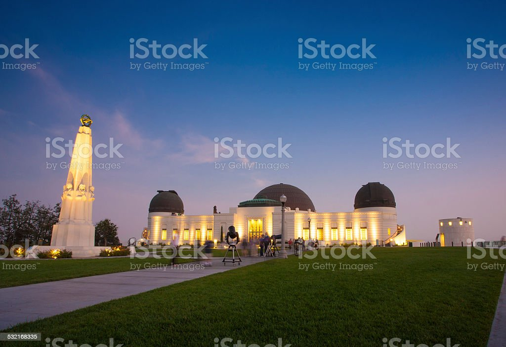 Griffith Observatory in Los Angeles stock photo