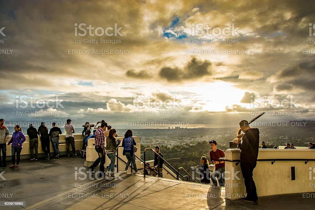 Griffith Observatory - Los Angeles stock photo