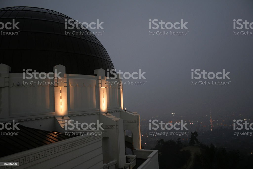 Griffith Observatory Overlooking Los Angeles royalty-free stock photo