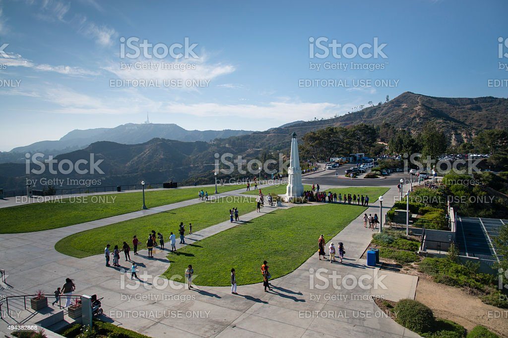 Griffith observatory park in Los Angeles stock photo