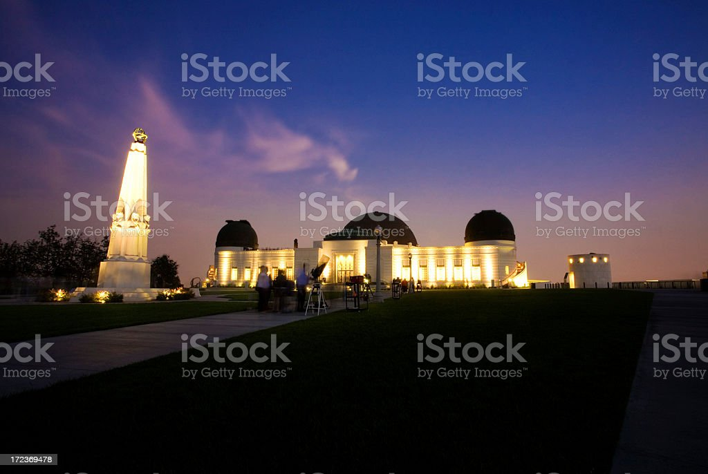Griffith Park Observatory At Twilight stock photo