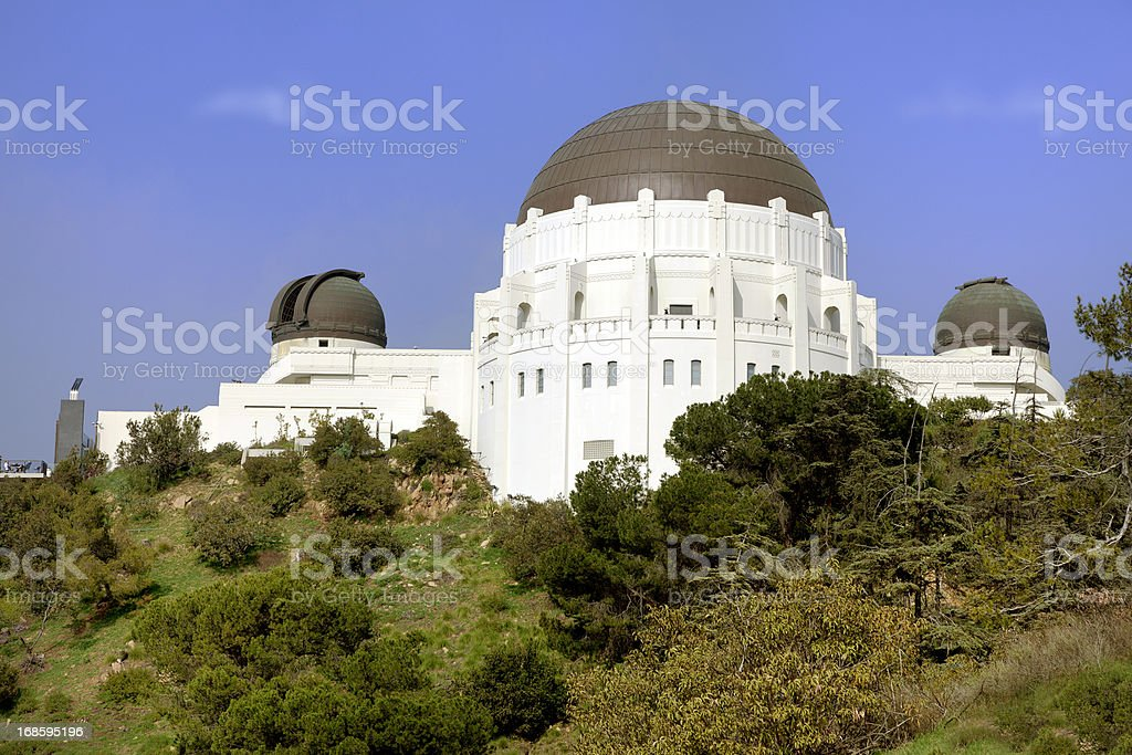 Griffith Park Observatory in city of Los Angeles, USA. stock photo
