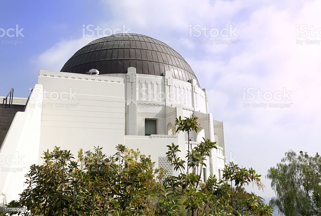 Griffith Park Observatory in L.A. royalty-free stock photo
