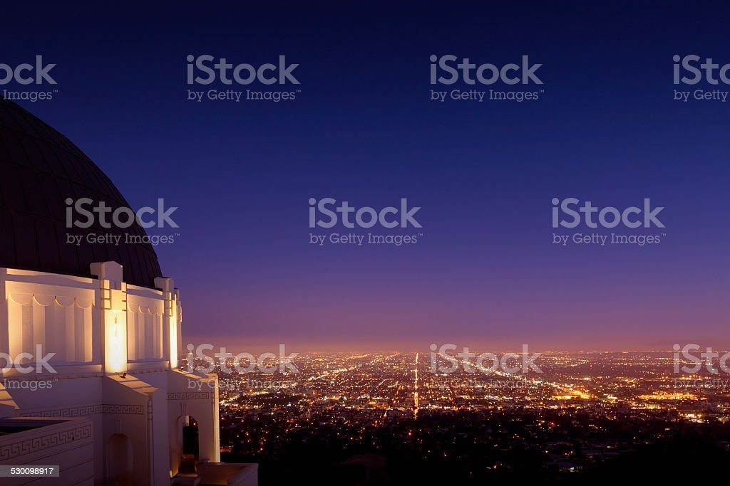 Griffith Park Observatory in Los Angeles stock photo