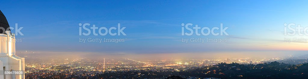 Griffith Park Observatory Panorama stock photo