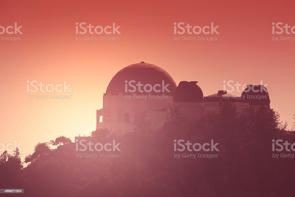 Griffith Park Observatory stock photo