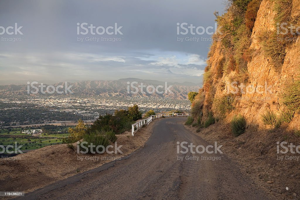 Griffith Park Road Hwy stock photo