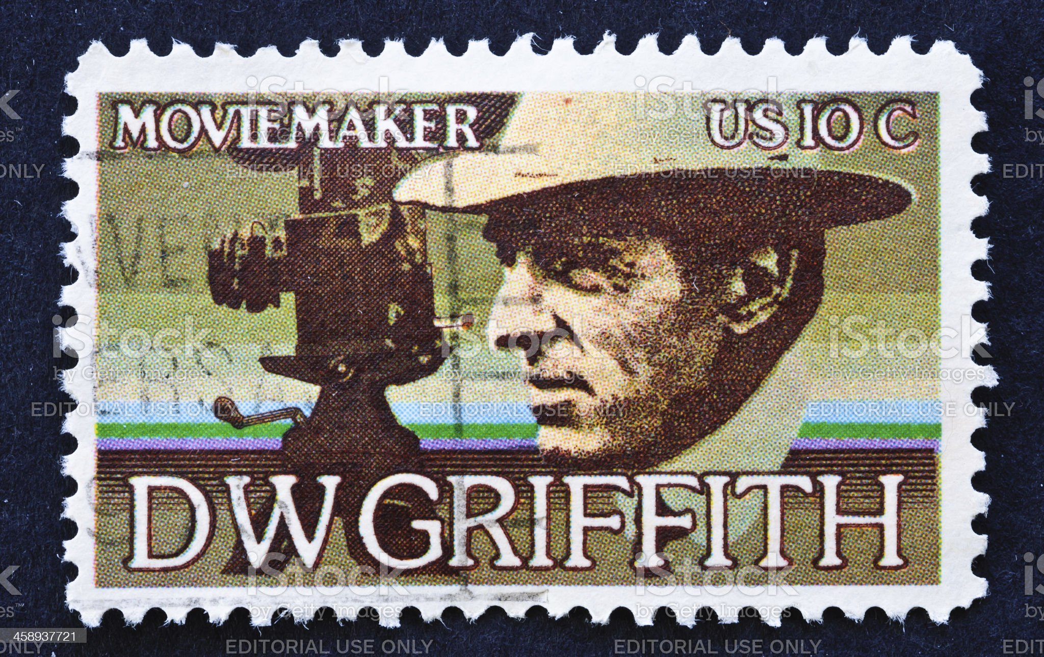 D W Griffith Stamp royalty-free stock photo