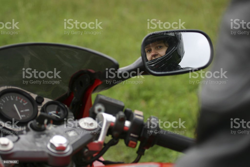 Gril on motorcycle royalty-free stock photo