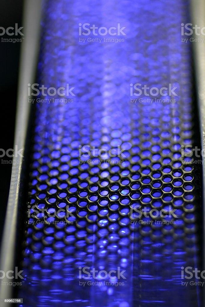 Grill and blue light texture stock photo
