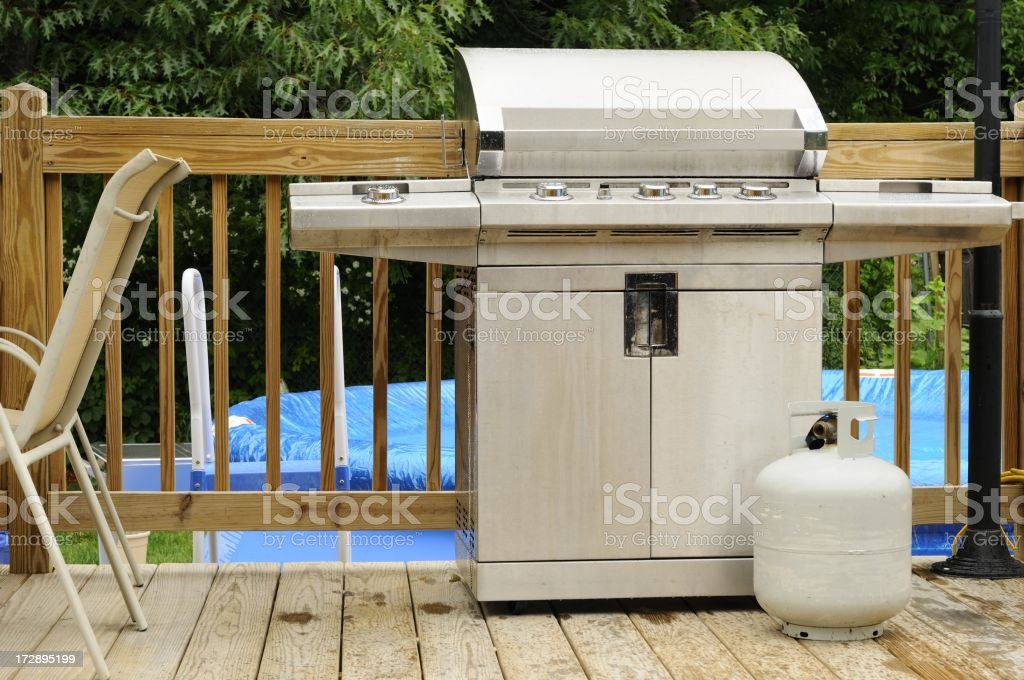 grill and tank royalty-free stock photo