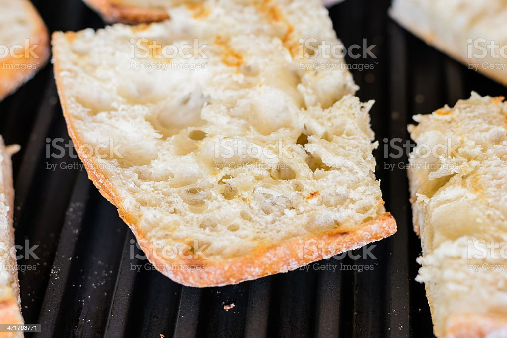 Grill bread stock photo