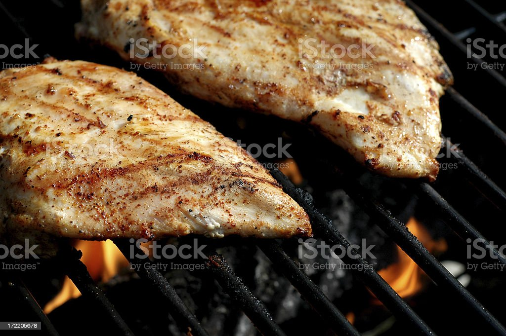 Grillin' Chicken royalty-free stock photo