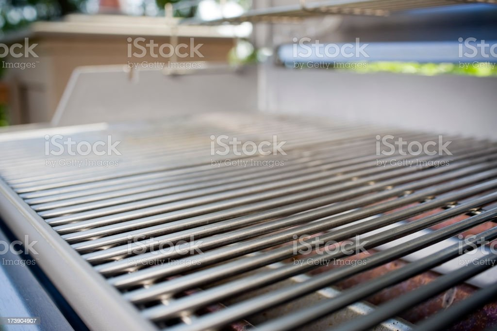 BBQ Grill, Close Up and Clean, Copy Space royalty-free stock photo