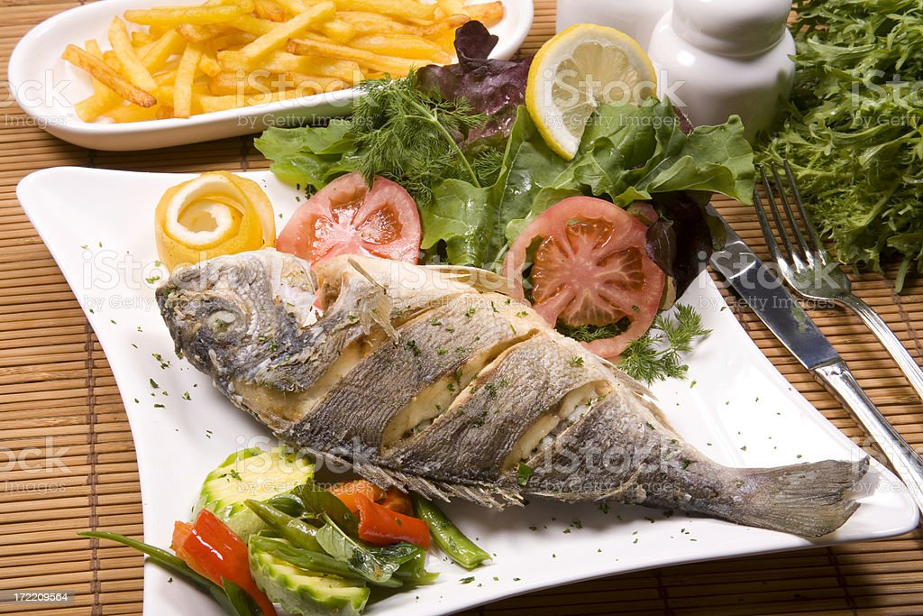 grill fish royalty-free stock photo