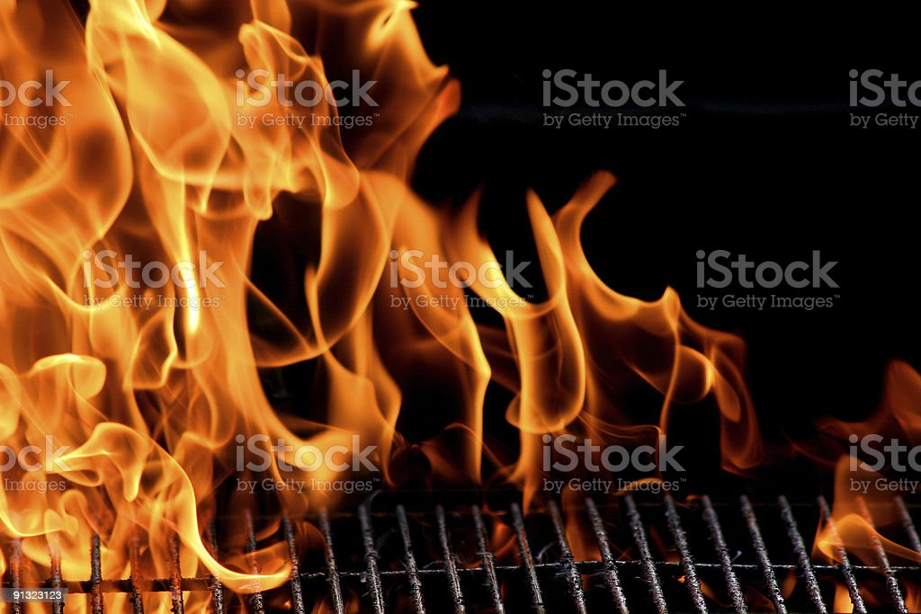grill flame stock photo