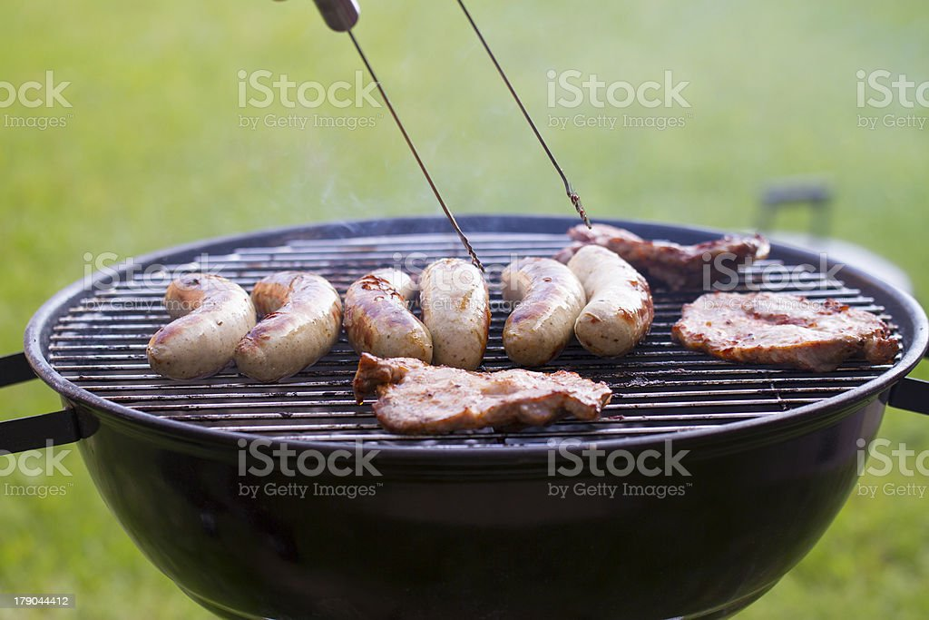 BBQ grill in the garden royalty-free stock photo