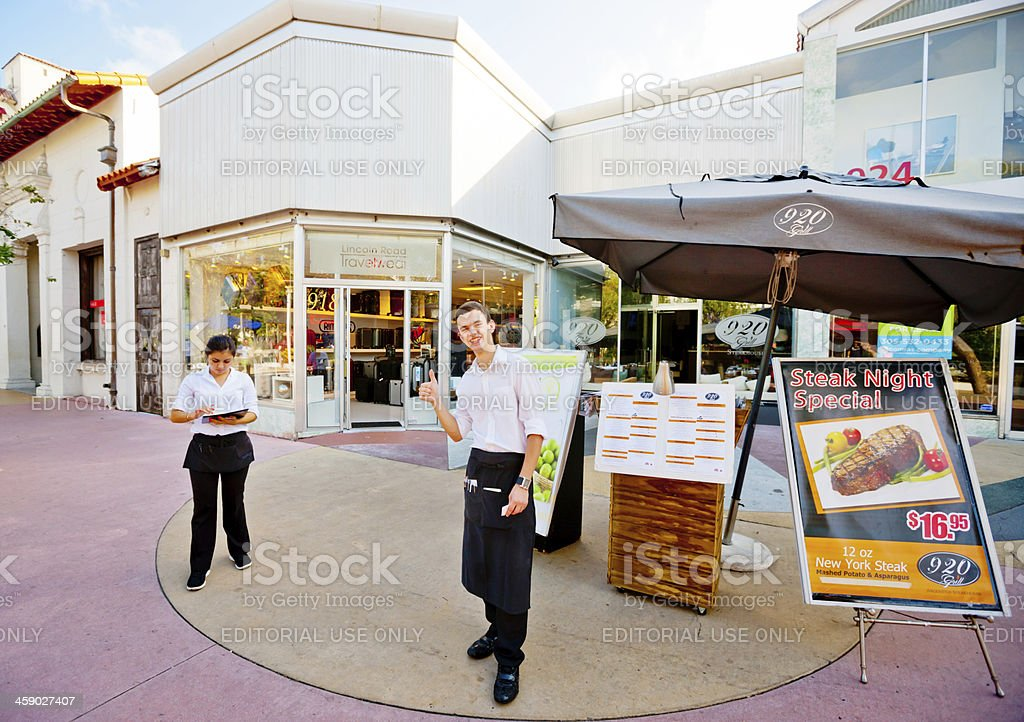 920 Grill, Lincoln Road, Miami Beach royalty-free stock photo
