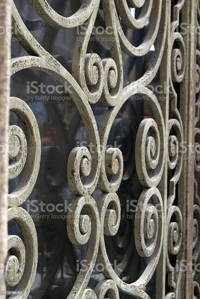 Grill on doorway in Nice. Provence. France royalty-free stock photo