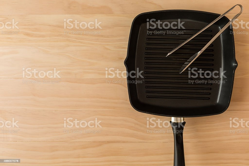 grill pan stock photo