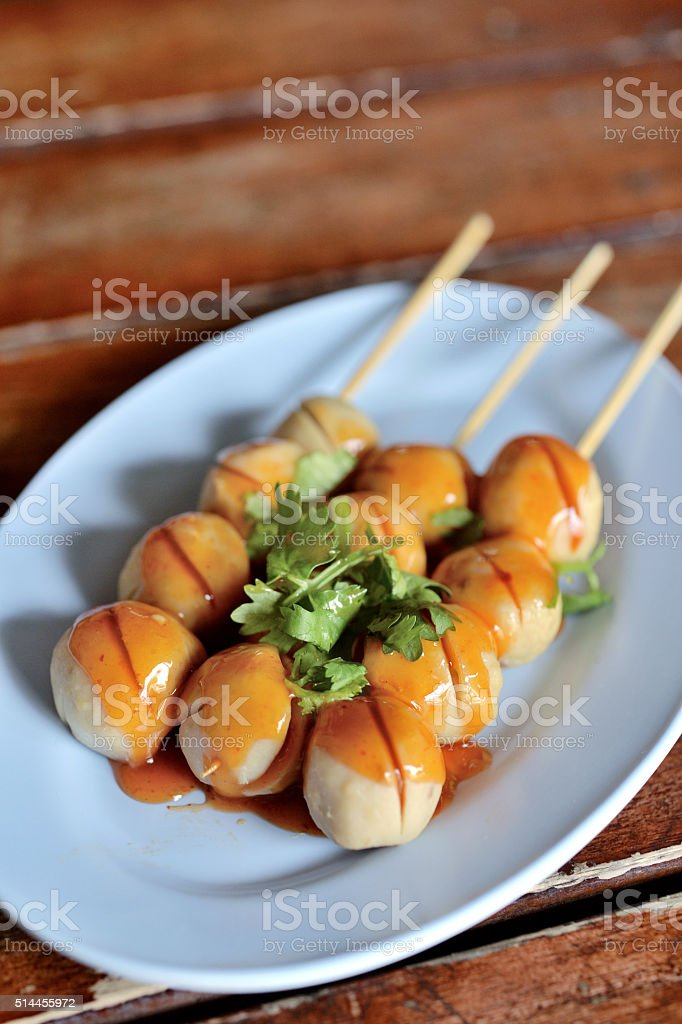 Grill Pork Balls stock photo