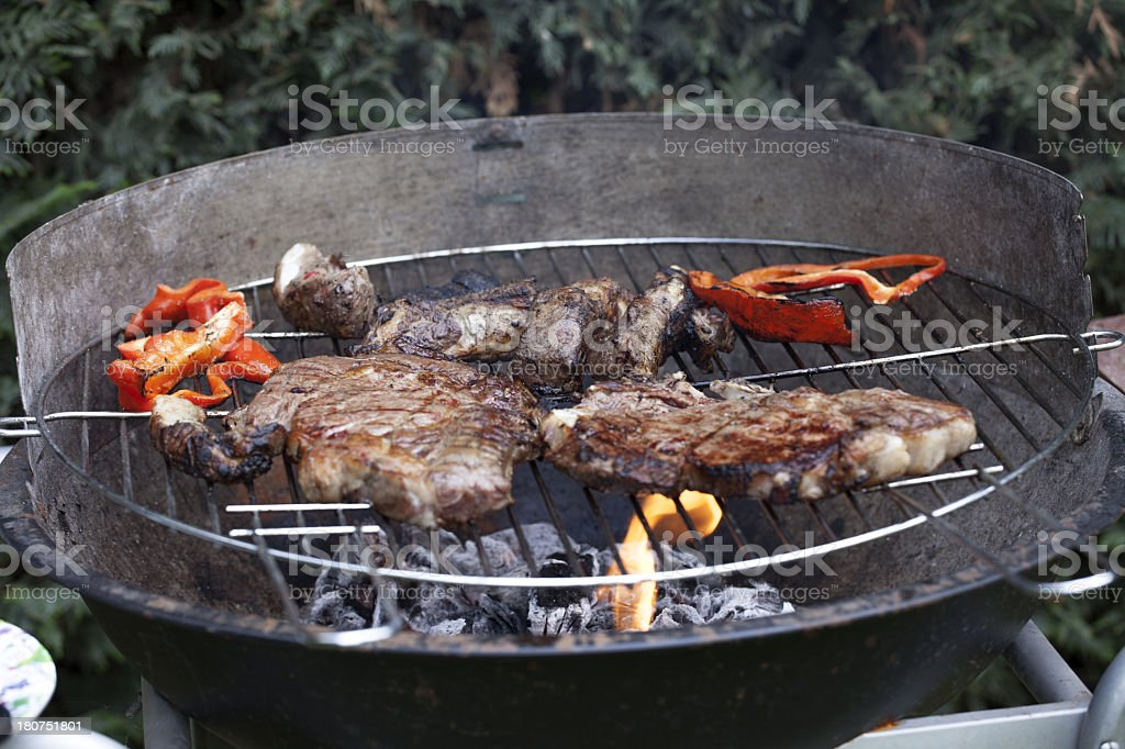 Grill the steak stock photo