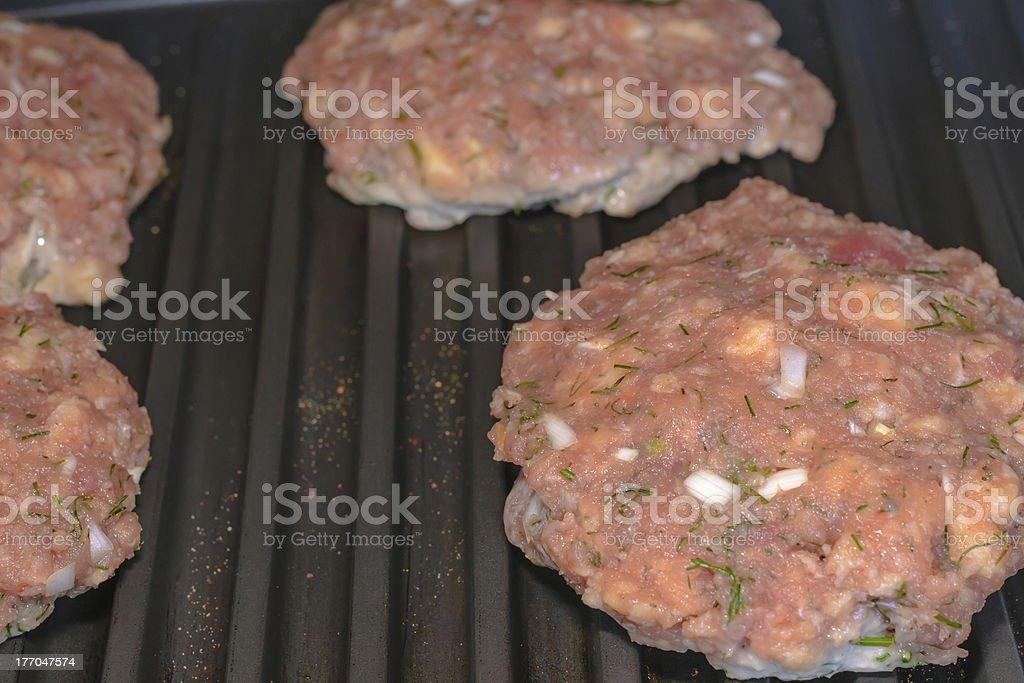 Grill tuna burger stock photo