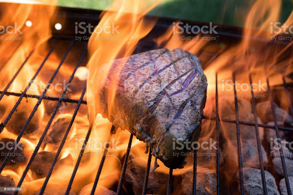 Grilled Ahi Tuna stock photo